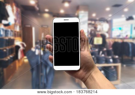 Blurred photo Blurry image Jeans Shop background