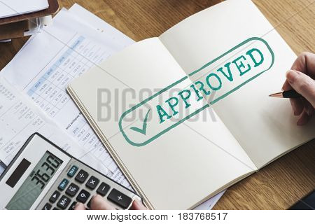 Approved Guarantee Brand Label Concept