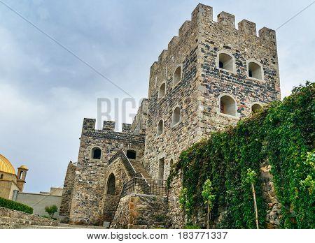 Wall And Tower Of Rabati Castle In Akhaltsikhe, Georgia