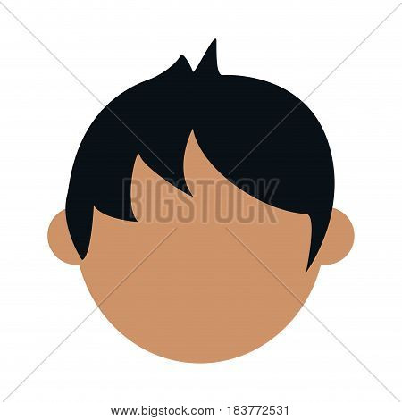 head of faceless tan skin man icon image vector illustration design