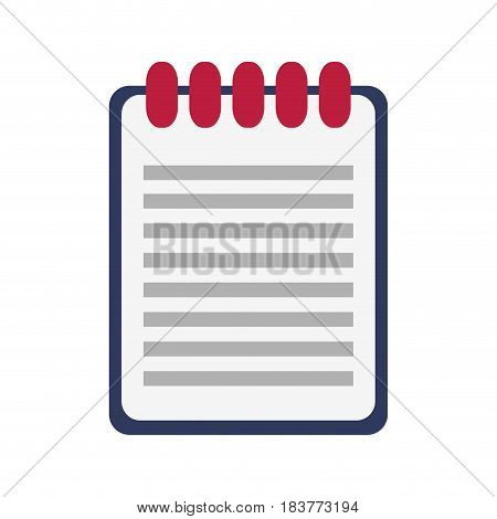 wired notebook icon image vector illustration design