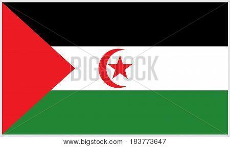 Western Sahara flag. Vector illustration flag design.