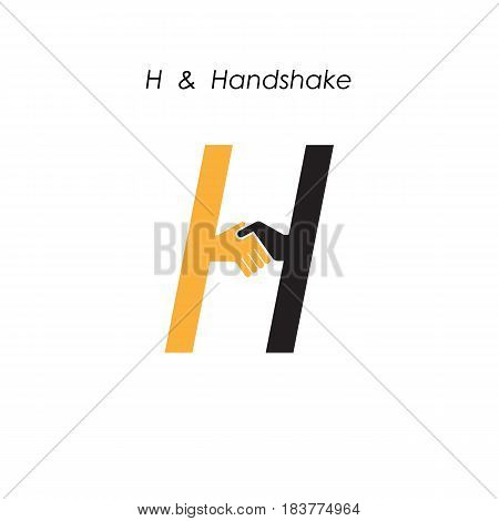 Creative H- letter icon abstract logo design vector template.Business offerpartnership icon.Corporate business and industrial logotype symbol.Vector illustration