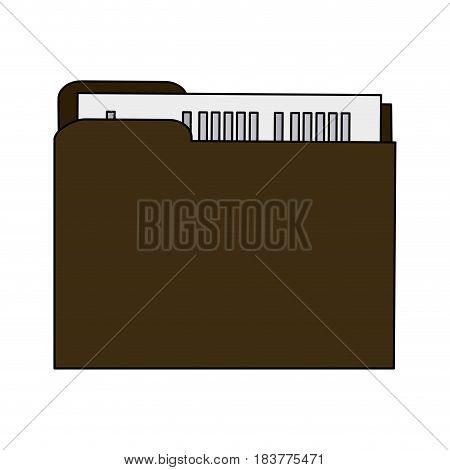 color graphic court documents folder vector illustration