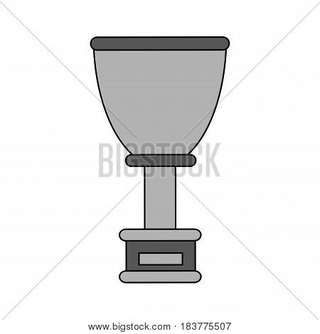gray color graphic cup trophy with plaque vector illustration