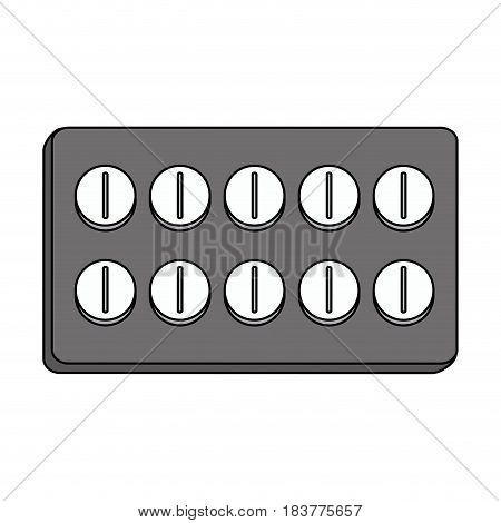 gray color graphic pack for pills vector illustration