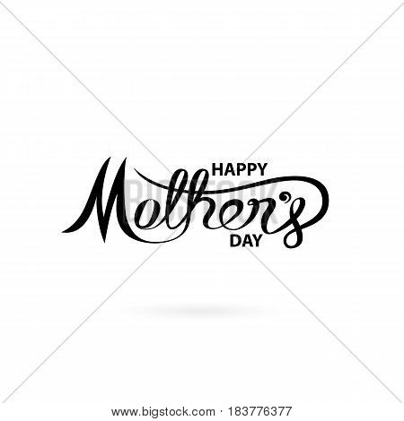 Happy Mother's Day Calligraphy Background.Happy Mother's Day Typographical Design Elements.Vector illustration