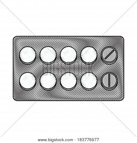 color blurred stripe of pack for pills vector illustration