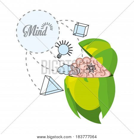 woman thinking in differents knowledge, vector illustration