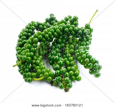 Fresh piper nigrum isolated on a white background
