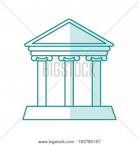 blurred silhouette parthenon icon architecture antique vector illustration