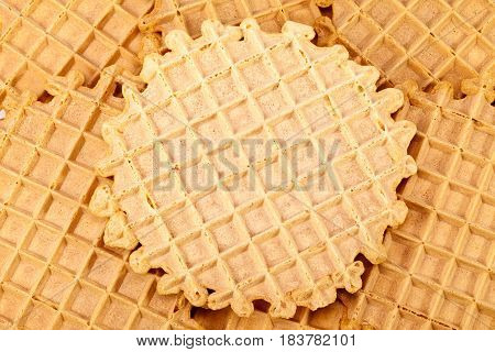 Background of group of wafer pattern close up.