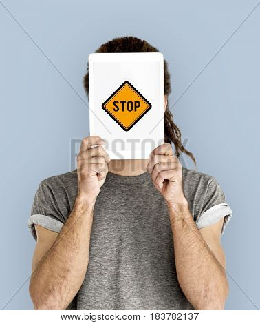 Stop No Caution Warning Sign