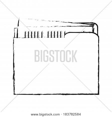 blurred silhouette court documents folder vector illustration
