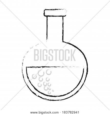 blurred silhouette glass circular beaker for laboratory vector illustration