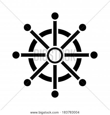 Steering ship boat icon vector illustration graphic design