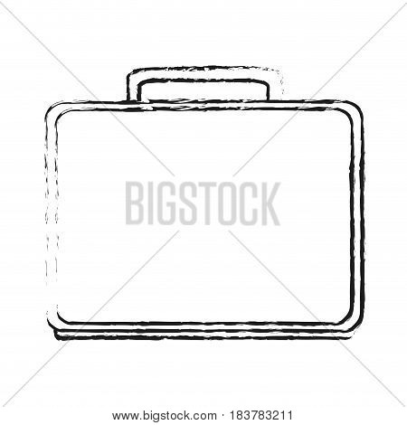 blurred silhouette executive briefcase with handle vector illustration
