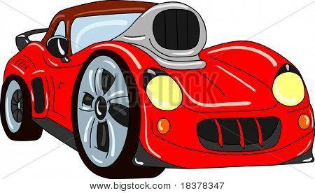 Vektor-Sport Auto-tuning auf hintergrund isoliert