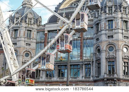 Exterior Antwerp Central Station