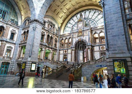 Interior Antwerp Central Station