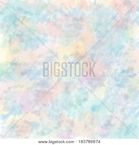 Soft hand drawn pastel colour mania background