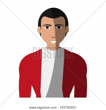 handsome man with muscular body icon image vector illustration design