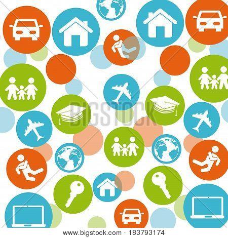 best insurance concept icons vector illustration design