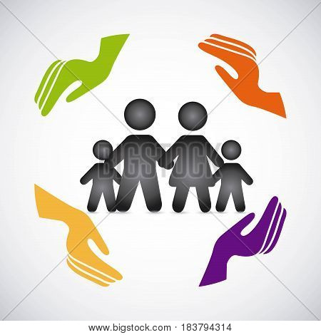family insurance concept icon vector illustration design