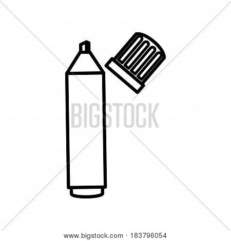 highlighter pen isolated icon vector illustration design