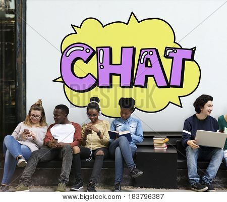 Chat Communication Conversation Discussion Word