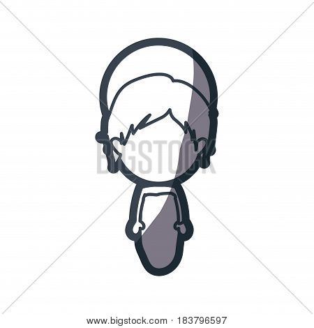 grayscale silhouette of faceless image of baby jesus vector illustration
