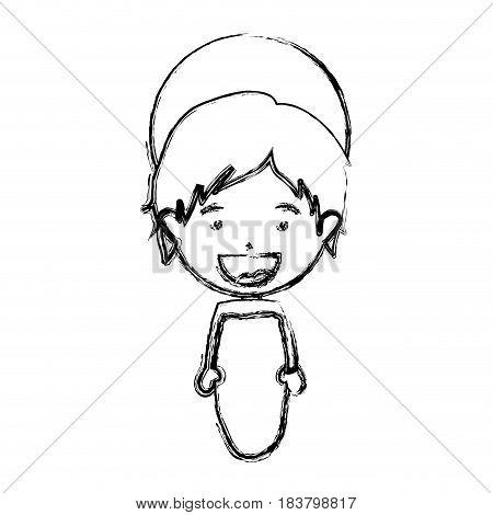 monochrome blurred silhouette of baby jesus vector illustration
