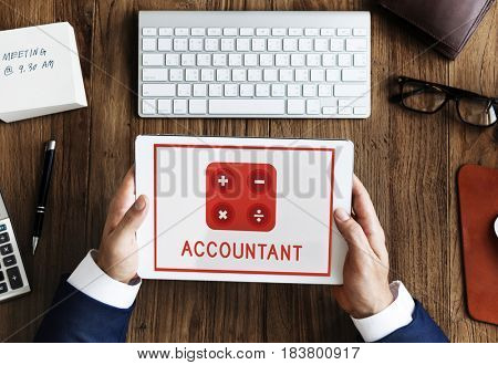 Accountant Mathematics Financial Commerce Calculating