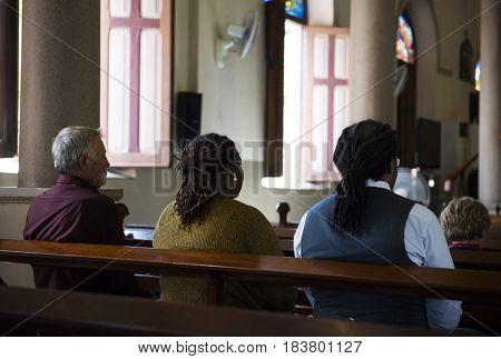 Church People Believe Faith Religious Praying