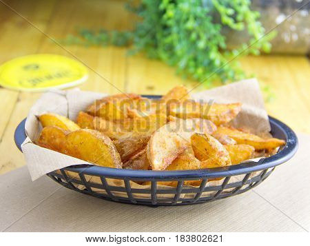 Basket of home fries.
