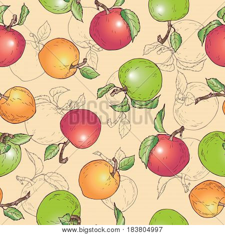 vektor illustracion fruit garden stuff fruity pattern