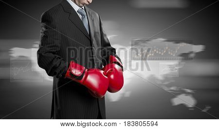 Mister boss ready to fight