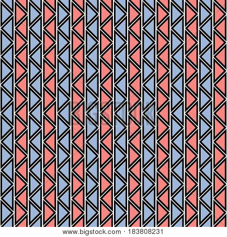 Seamless Vector Abstract Zig Zag Pattern. Symmetrical Geometric Repeating Background With Decorative
