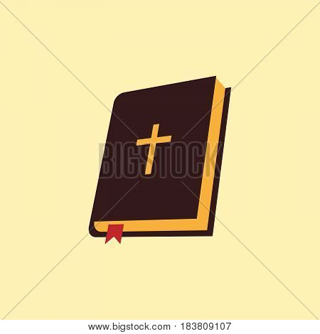Bible icon web isolated on background. Vector illustration. Eps 10.