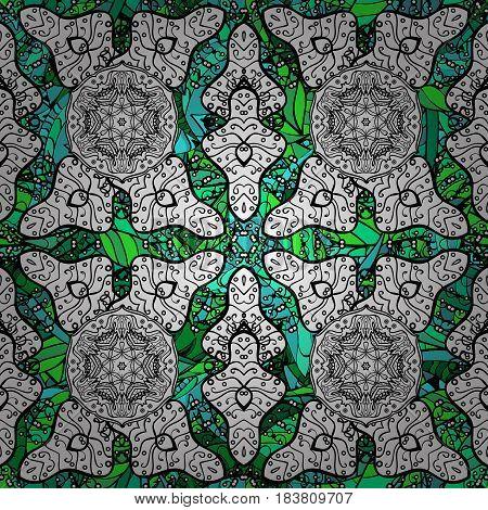 Vintage vector decorative elements. Oriental pattern. Colored Mandalas on background. Islam Arabic Indian turkish pakistan chinese ottoman motifs.