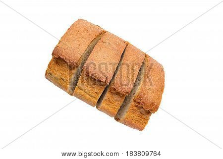 Bread. Slices Of Bread On A White Background