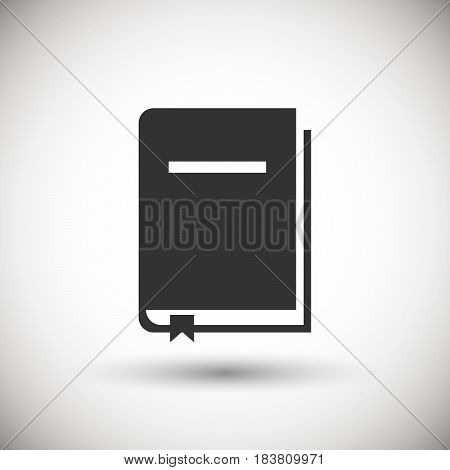 Book bookmark Icon isolated on background. Vector illustration. Eps 10.