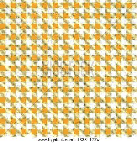Yelow seamless Gingham and Buffalo Check Plaid pattern. Tablecloths fabric texture stamp for apparel gift wrapping paper sleepwear pillow shirt and other textile products. Vector illustration
