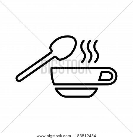 Soup icon isolated on white background. Vector icon. eps 10