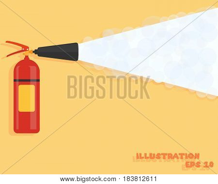Fire extinguisher. Fire protection icon. Fire-prevention announcement concept in flat style. Vector illustration. Eps 10.