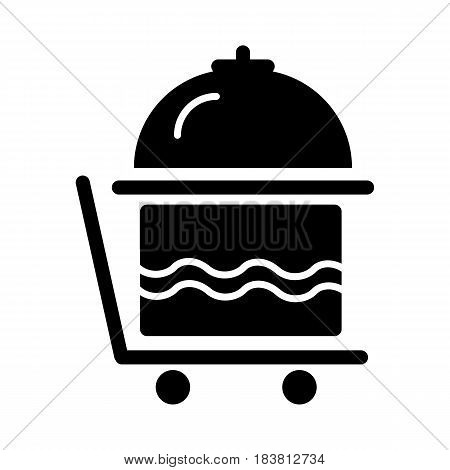 Breakfast room service icon vector, solid pictogram isolated on white. Symbol, logo illustration. eps 10