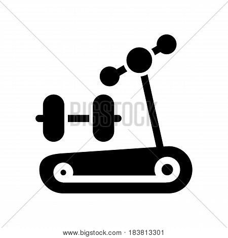 Dumbbells icon. Fitness sport symbol. Gym workout equipment. eps 10