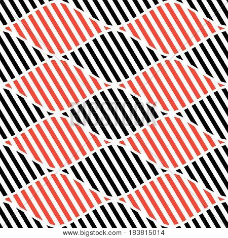 Seamless Vector Abstract Pattern. Symmetrical Geometric Repeating Background With Decorative Rhombus