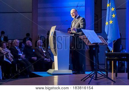 BRUSSELS, BELGIUM. January 27, 2016. Martin Schulz, German politician, former president of the European Parliament.