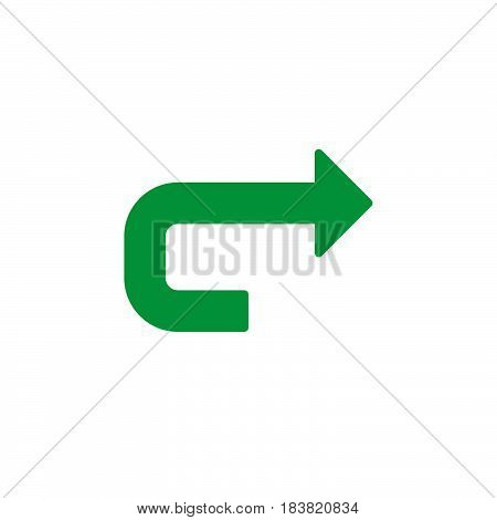 Forward arrow icon vector filled flat sign solid colorful pictogram isolated on white. Redo symbol logo illustration. Pixel perfect